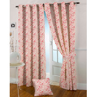 Presto Maroon Colour Jacquard Eyelet Door Curtains(7Ft)-ICGJ21F7