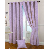 Presto Purple Colour Jacquard Eyelet Long Door Curtains(9Ft)-ICSA56F9