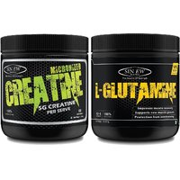 Sinew Nutrition Micronised Creatine Monohydrate - 300g and 100 Pure L-Glutamine Powder 330gm