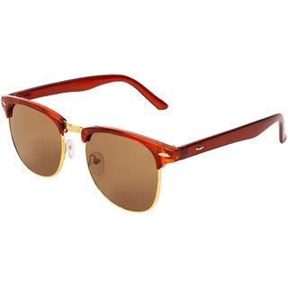 Zyaden Brown UV Protection Club-Master Unisex Sunglasses