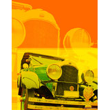 Art Printed Posters - Digital Art Of Car II