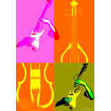 Art Printed Posters - Digital Art Of Colours Of Music