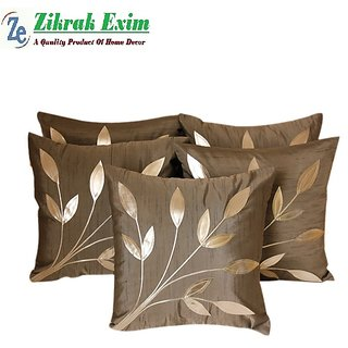 Leaves Patch Cushion grey silver(5 Pcs Set)