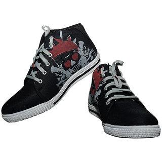 Fashion Darbar Chic Mens Black Casual Shoes