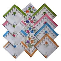 Premium Quality Kids 100 Cotton Handkerchiefs - Set of 12