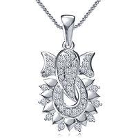 Vorra Fashion Sterling Silver Ganpati Pendant W/ 18 Chain For Ganesh Chaturthi
