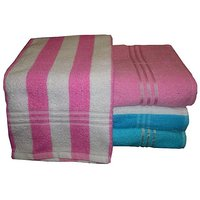 Bp Combo Of 4pc Luxury Bath Towel - Pink & Blue