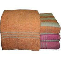 Bp Combo Of 4pc Luxury Bath Towel - Orange & Pink