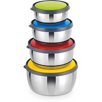 Classic Essential - 350 ml, 650 ml, 950 ml, 1250 ml Stainless Steel Food Storage (Pack of 4, Multicolor)