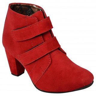 Exotique Womens Red Casual Boot (EL0031RD)