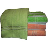 Bp Combo Of 4pc Luxury Bath Towel - Green & Orange