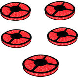 LED Strip Light Pack Of 5 Red Rolls - 25 Metres FROM 2014REASONABLE