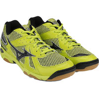 Mizuno Wave Twister 4 Shoes - LimePunch, Black & Silver