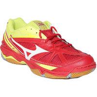 Mizuno Wave Hurricane 2 Badminton Shoe - Chinese Red, White & Bolt