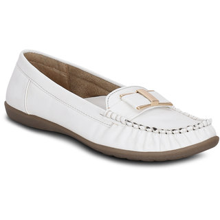 Kielz-Slip On-White-Synthetic-Loafers