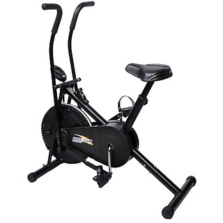 Body Gym Dual Functional Air Bike With Counter + 1 Yr Warranty