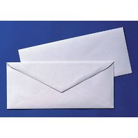 White Official Envelopes Pack Of 50 Envelopes