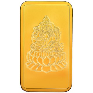 RSBL BIS Hallmarked 1 grams 24k (999) Yellow Gold Laxmi Precious Bar