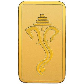 RSBL BIS Hallmarked 2.5 grams 24k (999) Yellow Gold Ganpathi Precious Bar