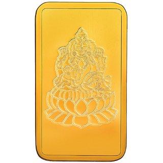 RSBL BIS Hallmarked 2.5 grams 24k (999) Yellow Gold Laxmi Precious Bar
