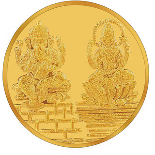 RSBL BIS Hallmarked 5 grams 24k (995) Yellow Laxmi Ganesha Precious Coin
