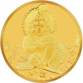 RSBL BIS Hallmarked 10 grams 24k (995) Yellow Krishna Precious Coin