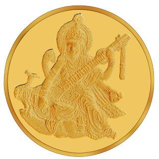 RSBL BIS Hallmarked 10 grams 24k (995) Yellow Goddess Saraswati Precious Coin