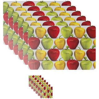 Apples printed table mats and coasters from Dreamcare