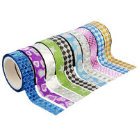 Colourful Decorative Adhesive Glitter Tape Roll - 10 Rolls