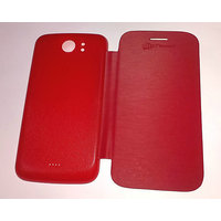Premium Flip Case Cover For Micromax A110/A110Q Canvas2/2 RED