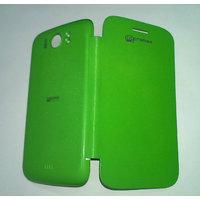 Premium Flip Case Cover For Micromax A110/A110Q Canvas2/2 GREEN