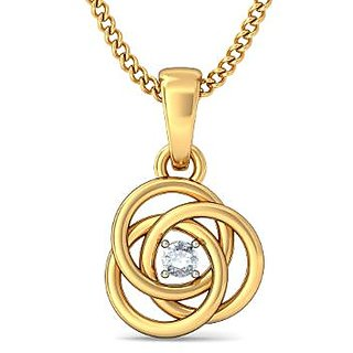 The Ceeran Pendant_Diamond Pendant In 18Kt Yellow Gold