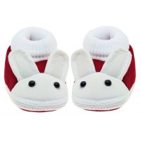 Neska Moda Baby Infant Soft Maroon Booties To 12 CM Length For Age Group 6 To 18 Months BT82