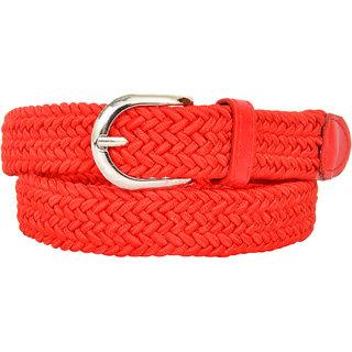 Altek Comfy Glossy Free Size Stitch-able Women Belt (belt-1212-red-freesize)