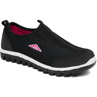 a663563a51453 Asian Women Black And Pink Sports Shoes available at ShopClues for Rs.449