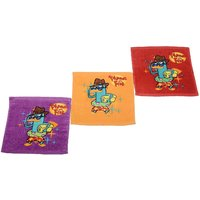Disney Phineas Ferb Kids Baby Face Napkins - Set Of 12