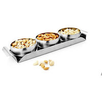 IDeals Wedding Gift Set Of 3 Bowls With Tray (without Dry Fruits)
