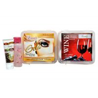 Luster Gold -wine Facial Kits 275 Gm (free Gift)