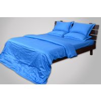 Mark Home Blue Color Cotton Bed Sheet With Two Pillow Covers