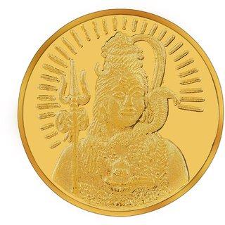 RSBL BIS Hallmarked 10 grams 24k (995) Yellow Lord Shiva Precious Coin
