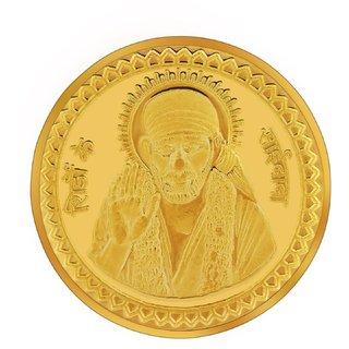 RSBL BIS Hallmarked 10 grams 24k (995) Yellow Shirdi Sai Baba Precious Coin