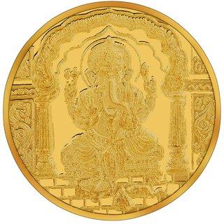 RSBL BIS Hallmarked 10 grams 24k (995) Yellow Shri Ganpathi Precious Coin
