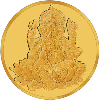RSBL BIS Hallmarked 5 grams 24k (995) Yellow Shri Ganpathi New Design Precious Coin