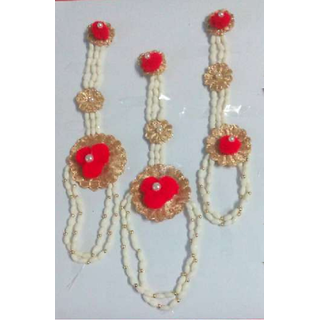 Women's Brass-and-red Jewelry Set