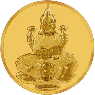 RSBL BIS Hallmarked 1 grams 24k (995) Yellow Gold Laxmi Precious Coin