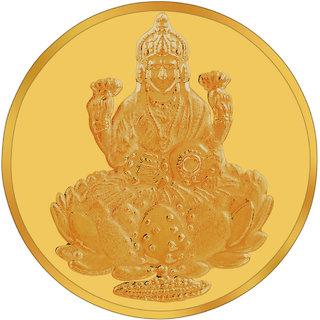 RSBL BIS Hallmarked 2 grams 24k (995) Yellow Gold Laxmi Precious Coin
