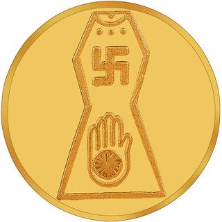 RSBL BIS Hallmarked 1 grams 24k (995) Yellow Gold Jain Precious Coin