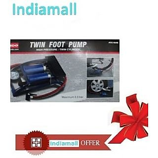 Original COIDO Air Foot Pump 8cm Double Cylinder Tire/Tyre Inflator for Bike/Car available at ShopClues for Rs.998
