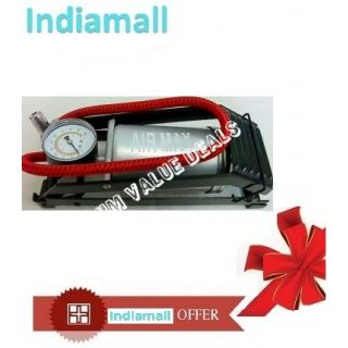 AIR MAX Air Foot Pump 8cmm Cylinder Tire/Tyre Inflator for Bike/Car available at ShopClues for Rs.649