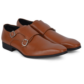 Ziraffe CAPARO Double Monk Tan Mens Formals Shoes